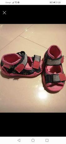 Ciapki kapcie sandałki Befado r 19