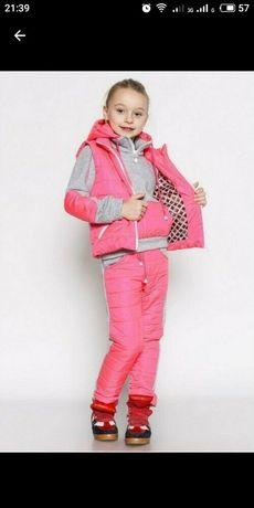 Утепленный спортивный костюм для девочки на осень, весну и зиму