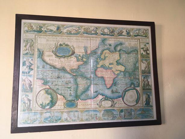 Quadro de sala/mapa mundo