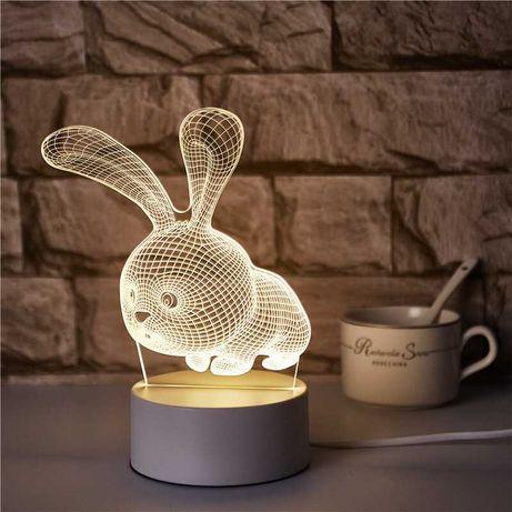 Ночник, светильник 3D кролик