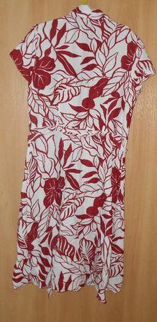 платье халат рубашка 52 размера натуральная ткань