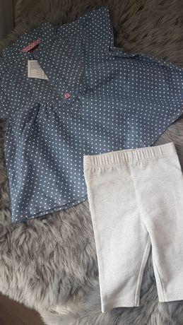 Koszulka tunika bluzeczka w kropeczki 3-6 m-cy r. 68