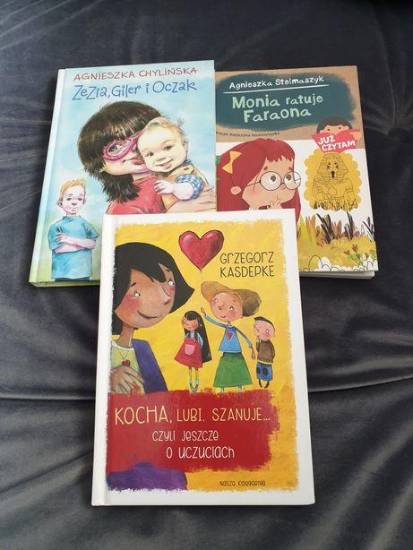 Książki dla młodego czytelnika zestaw 3szt