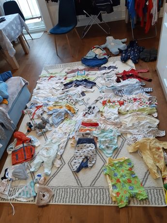 Wyprawka, ciuchy niemowlęce, ubranka, ciuszki 56-68