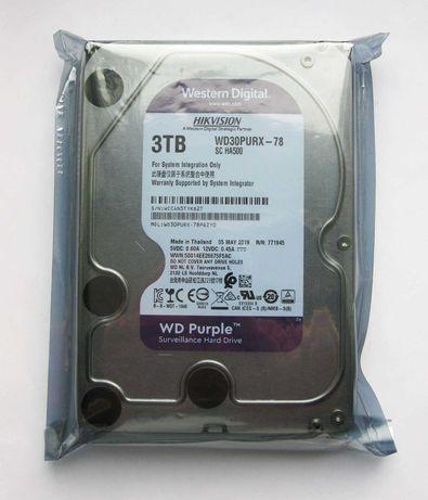 WD Purple 3TB (Запечатан, гaрантия) для видеонаблюдения