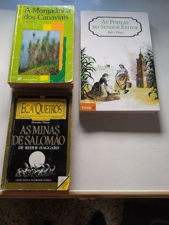 Vendo 3 livros usados (Júlio Dinis, Rider Haggard)