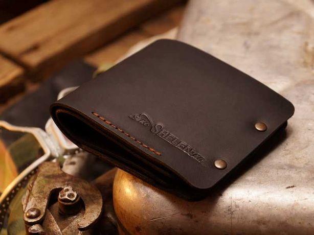 """Мужской кожаный кошелек.Модель """"Авиатор"""".Бумажник из натуральной кожи."""