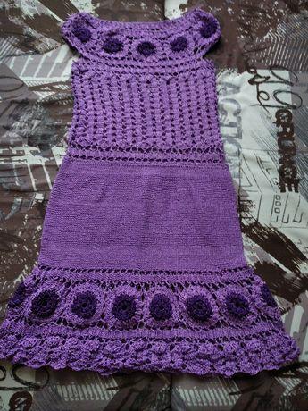 Платье женское ручная вязка