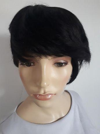 WYPRZEDAŻ-60% peruka naturalna 100% naturalne włosy bob czarne human