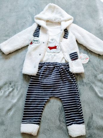 Nowy zestaw ubranek bluza body z długim rękawem i spodnie