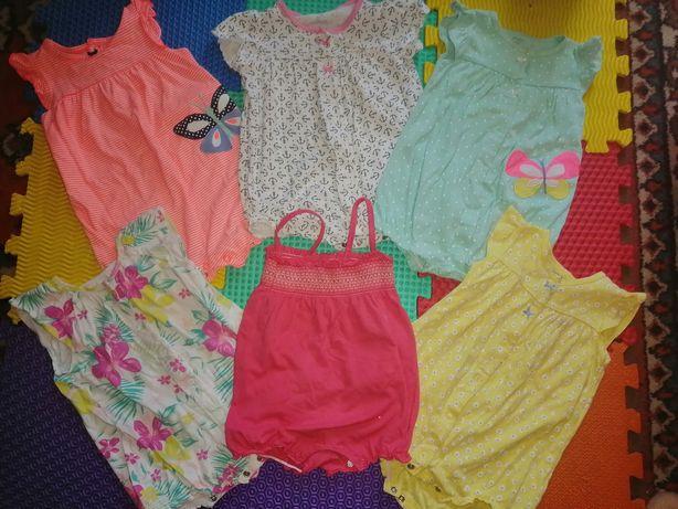 Песочники, бодики для девочек, летняя одежда