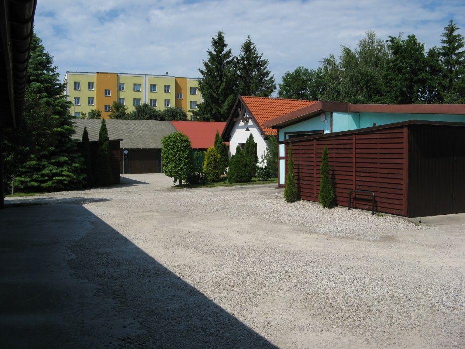 Działka BUDOWLANA 4200m2 z domem garażami i szklarnią  EŁK- CENTRUM !