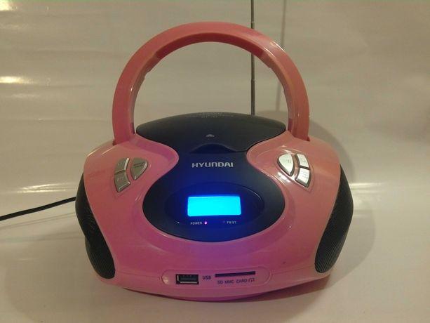 Boombox HYUNDAI CD MP3 USB SD radio z FM jak NOWY TANIO!!!