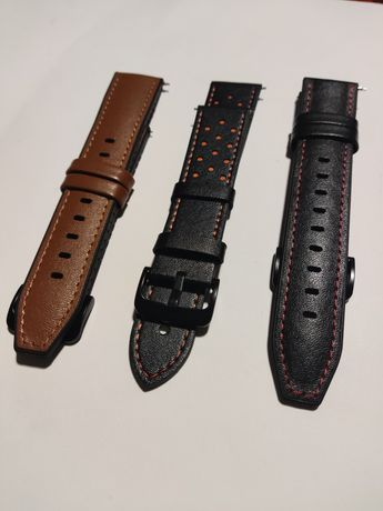 Braceletes de Couro para smartwatch - Samsung, Huawei, Amazfit