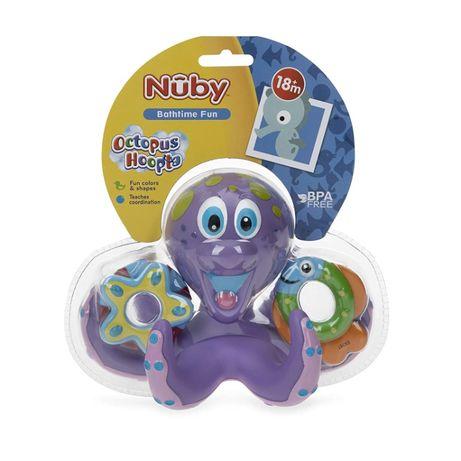 Игрушка для ванны Осьминог фиолетовый Nuby Floating Purple Octopus