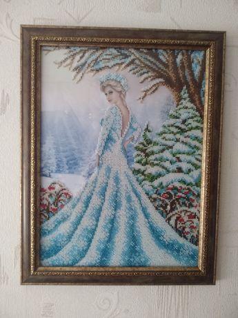 Девушка-Зима(бисером)