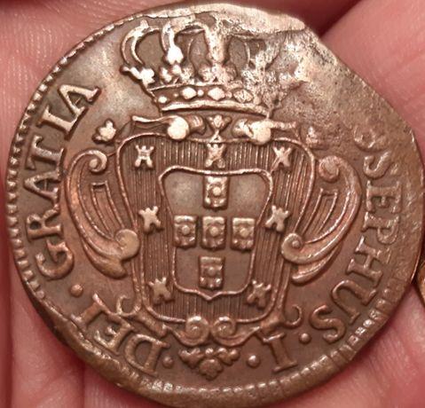 10 reis de 1749, moeda hibrida, MUITO RARA.