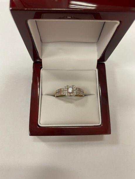 okazały złoty pierścionek p585 2,96g duży rozmiar !!