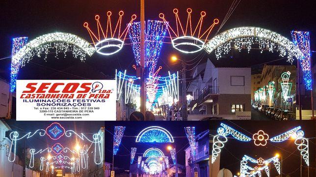 Iluminações festivas, iluminações de Natal