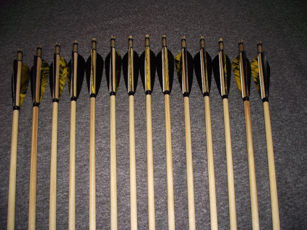36-40 świerk nr 521 Komplet strzał do łuku strzały strzała drewniana