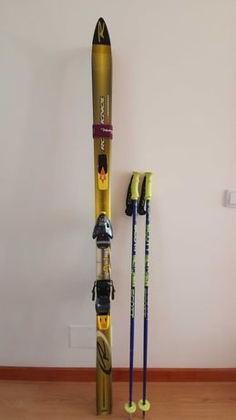 Skis Rossignol e Bastões Scott