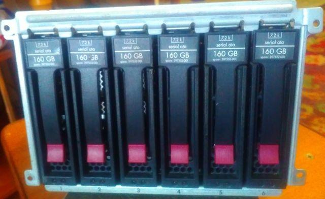 Корзина HP Proline для 6-ти дисков SAS/SATA HDD