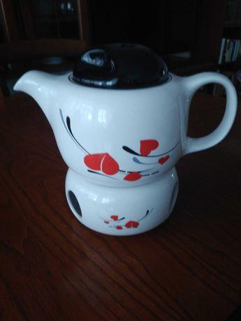Imbryk , dzbanek do herbaty , ziół z podgrzewaczem Tułowice