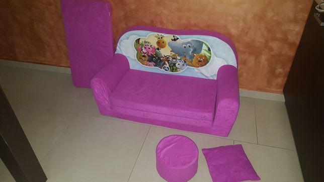 Kanapa sofa łóżko dla dzieci rozkładana piankowa