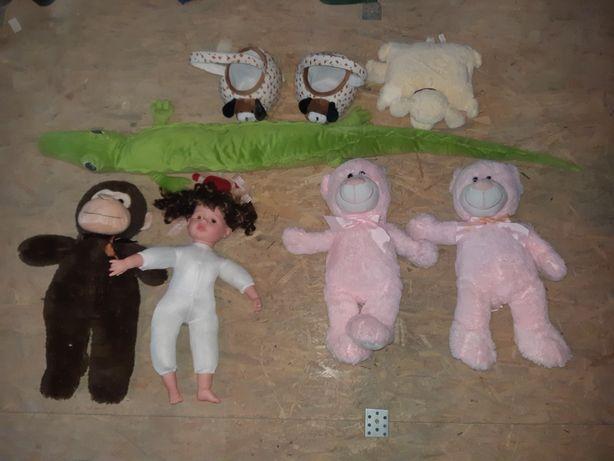 Zestaw DUŻYCH pluszaków + lalka