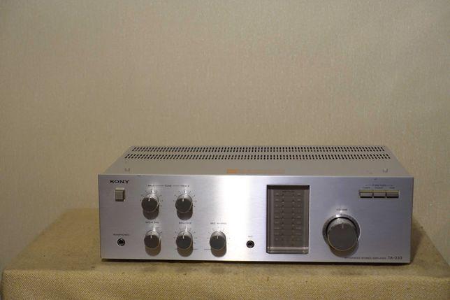 Музыкальный транзисторный HI-FI усилитель 80-х SONY TA-333