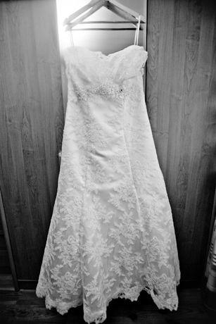 Suknia ślubna z pracowni wrocławskiej projektantki Małgorzaty Motas.