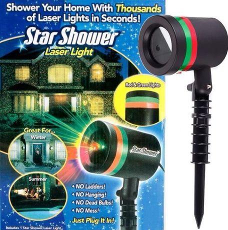 Новогодний лазерный проектор для дома Star Shower
