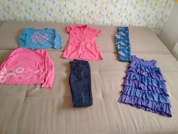 Zestaw ubranek 134 dziewczynka/ spodnie/ sukienki/