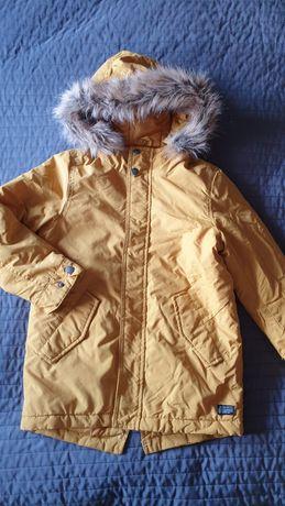 Kurtka zimowa Zara r 122 musztardowa