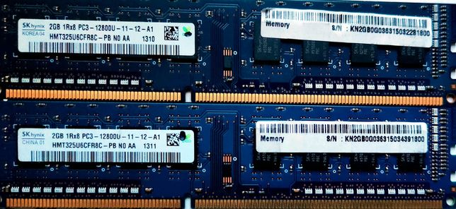 Sprzedam pamięć RAM DDR3 SK Hynix/ 4x2 GB/ 1600MHZ