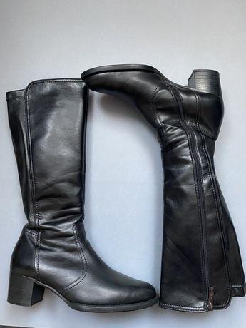 Сапоги Paul Green кожаные черные демисезон