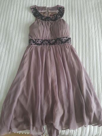 Sukienka kolor czekoladowy