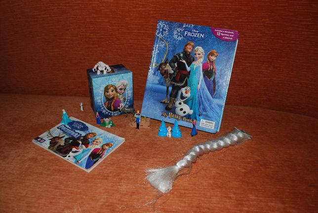 Kraina lodu Elza książka figurki zestaw Frozen Anna Olaf