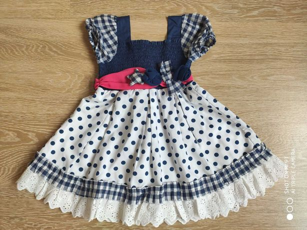 Нарядное новое летнее платье для девочки, 1,5 года, рост 82 см.