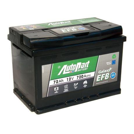 Akumulator Start-Stop EFB AutoPart 12V 72Ah 720A 24m-ce gwaranci mon.