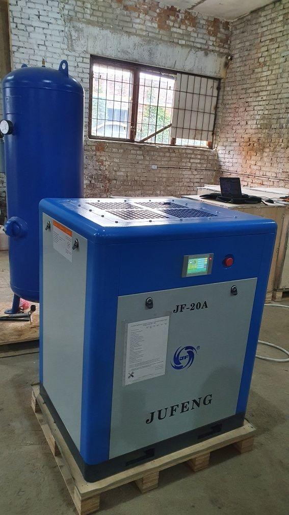 Винтовой компрессор JUFENG 7 - 75 кВт. Осушитель Ресивер компрессора