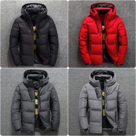 Мужская зимняя куртка пуховик BRG с термоподкладкой, 4 цв.Размер 44-52