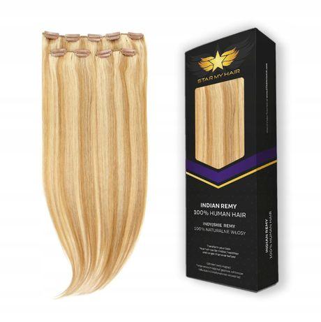 Włosy doczepiane 100% naturalne indyjskie 50-55 cm CLIP IN ON dopinki