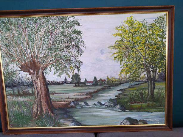 Śliczny duży obraz akrylowy 100 cm x 70 cm