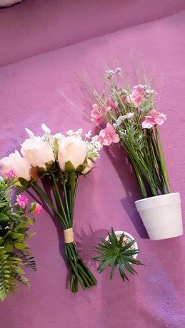 Kwiaty sztuczne róża doniczka