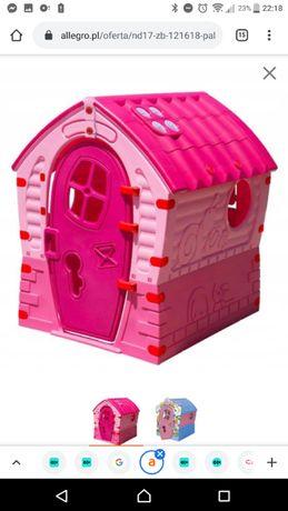 Pal Play domek ogrodowy plastikowy dla dzieci, dzieci RÓŻOWY Nowy