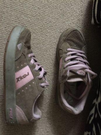 Roxy life adidasy buty 37 zamsz pink różowe