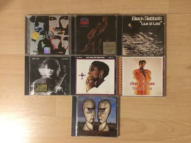 CDs Pink Floyd, U2, Black Sabbath,Shara Nelson, Jimmy Page