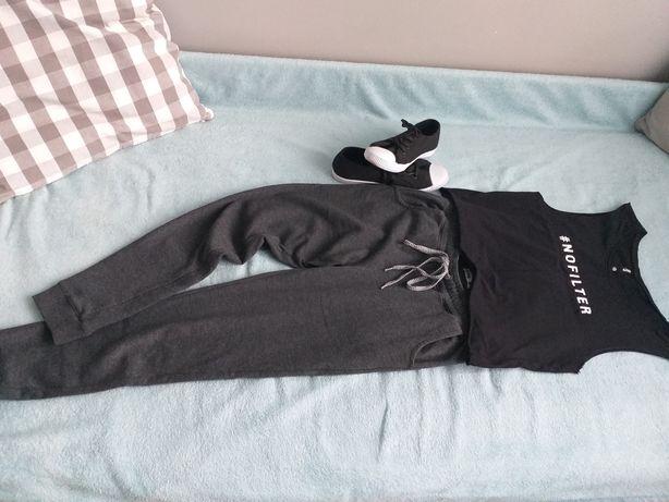 Spodnie+koszulka+trampki