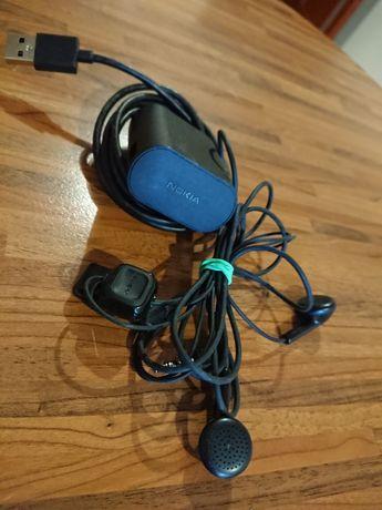 Зарядное устройство с наушниками и шнуром Nokia